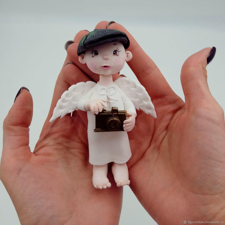 Портретные куклы ручной работы. Ярмарка Мастеров - ручная работа. Купить Ангел-фотограф подарок фотографу. Handmade. Ангел