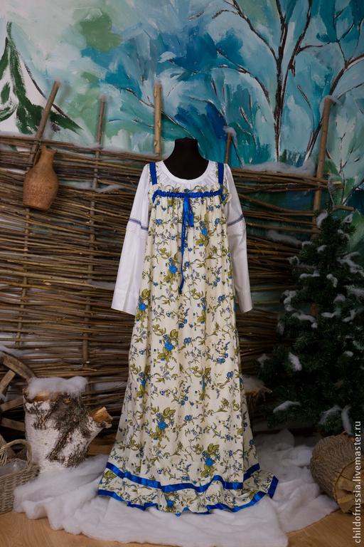 Этническая одежда ручной работы. Ярмарка Мастеров - ручная работа. Купить сарафан. Handmade. Сарафан ситец, ситец, летний сарафан