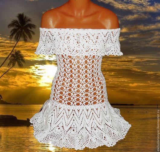 Пляжные платья ручной работы. Ярмарка Мастеров - ручная работа. Купить Платье пляжное. Handmade. Пляжное платье, белый