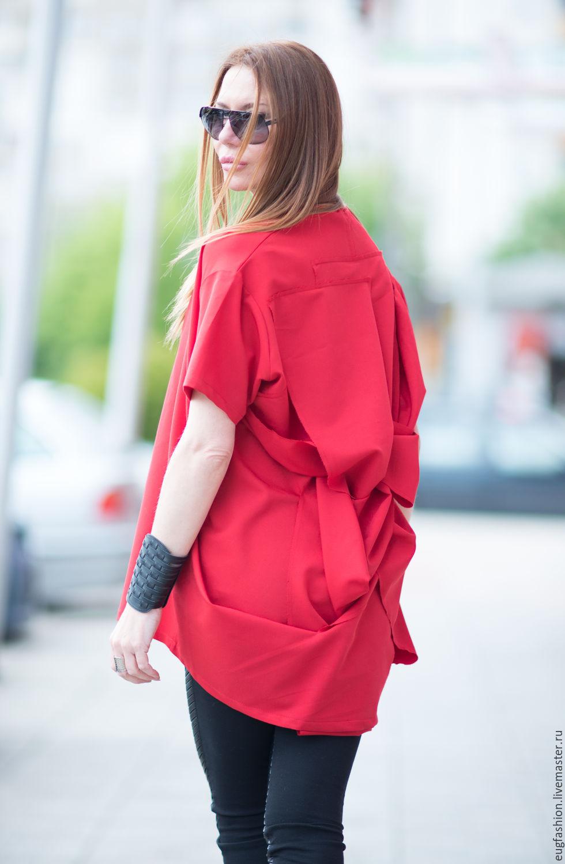 Красная блузка купить
