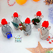 Сувениры и подарки handmade. Livemaster - original item New year`s mouse №2-symbols of 2020. Mouse felt.. Handmade.