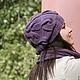 Шапка женская, шапка вязанная, шапка вязаная, сливовый, баклажан, баклажановый, шарф длинный, шарф вязаный, шарфы вязаные, шарфы вязанные, шарф вязанный, слива.