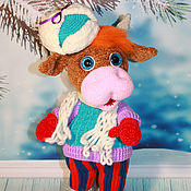 Куклы и игрушки handmade. Livemaster - original item Soft toys: Bull Afonya. Bull knitted. Symbol 2021. Handmade.