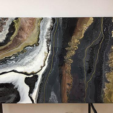 Картины и панно ручной работы. Ярмарка Мастеров - ручная работа Интерьерная картина из эпоксидной смолы,панно, абстракция. Handmade.