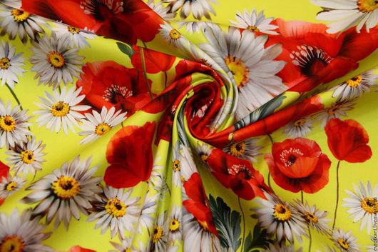 Шитье ручной работы. Ярмарка Мастеров - ручная работа. Купить Хлопок  Dolce&Gabbana.. Handmade. Ярко-красный, рубашка из хлопка