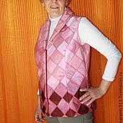 """Одежда ручной работы. Ярмарка Мастеров - ручная работа Лоскутная жилетка """"Розовая радость"""". Handmade."""