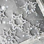 """Подарки к праздникам ручной работы. Ярмарка Мастеров - ручная работа Набор снежинок  """"Морозное чудо"""". Handmade."""