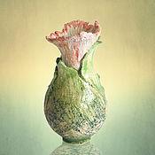 """Для дома и интерьера ручной работы. Ярмарка Мастеров - ручная работа Ваза """"Нежность цветов"""". Handmade."""