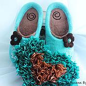 """Обувь ручной работы. Ярмарка Мастеров - ручная работа Валяные тапочки """"Антильские острова"""". Handmade."""