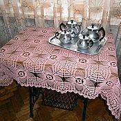 """Для дома и интерьера ручной работы. Ярмарка Мастеров - ручная работа Скатерть вязаная """"Розовое чаепитие"""". Handmade."""
