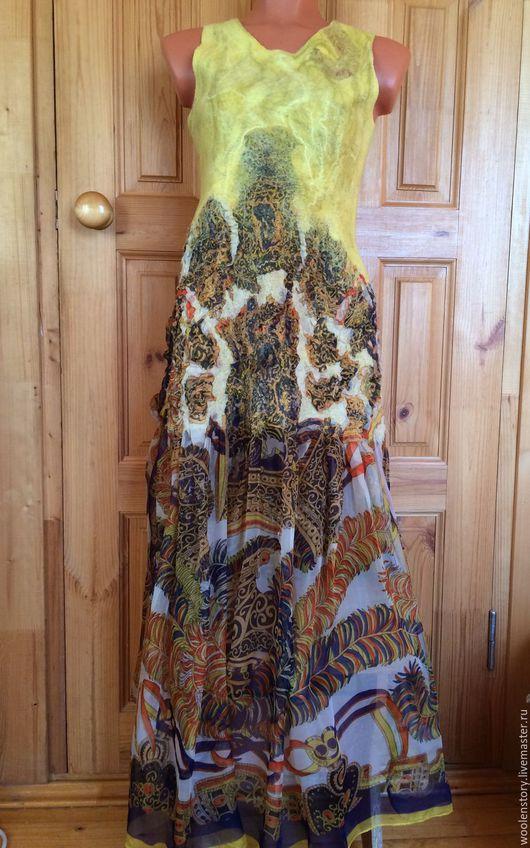 """Платья ручной работы. Ярмарка Мастеров - ручная работа. Купить Платье """"Солнышко"""". Handmade. Желтый, шёлк"""