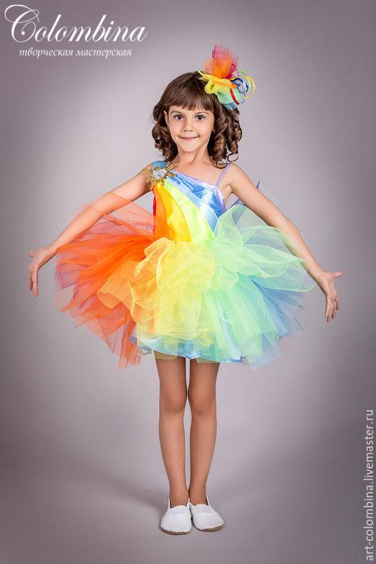 Детские карнавальные костюмы ручной работы. Ярмарка Мастеров - ручная работа. Купить Костюм радуги-132. Handmade. Разноцветный, радуга