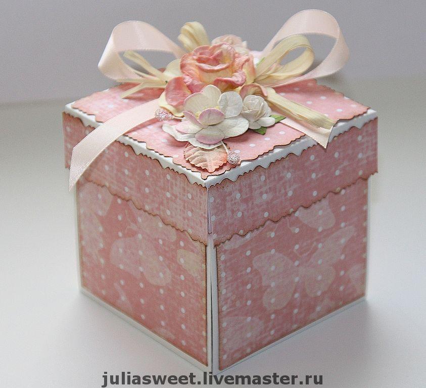 Подарочная открытка коробочка