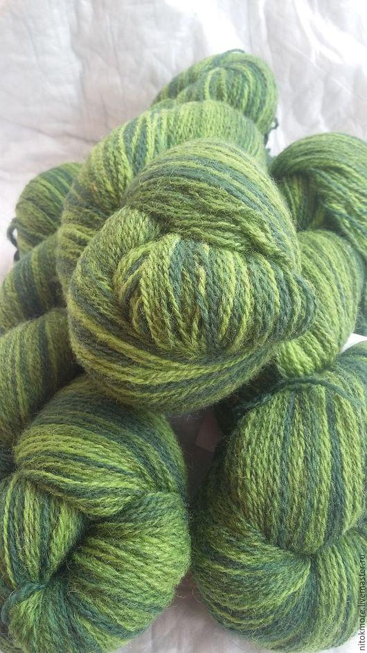 Вязание ручной работы. Ярмарка Мастеров - ручная работа. Купить Кауни Green 8/2. Handmade. Зеленый, прибалтийская пряжа