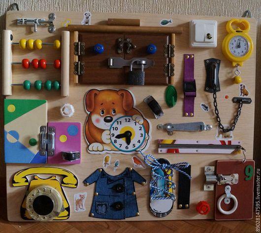 Развивающие игрушки ручной работы. Ярмарка Мастеров - ручная работа. Купить РАЗВИВАЮЩАЯ ДОСКА. Handmade. Разноцветный, развивающая книжка, игрушка