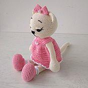 Куклы и игрушки handmade. Livemaster - original item Cute kitty in a pink dress.. Handmade.