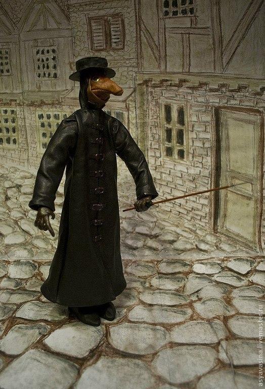 Коллекционные куклы ручной работы. Ярмарка Мастеров - ручная работа. Купить Чумной доктор. Handmade. Черный, мистика, папье-маше