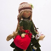 Подарки к праздникам ручной работы. Ярмарка Мастеров - ручная работа Кукла-Тильда ЕЛКА ед. Экз.. Handmade.