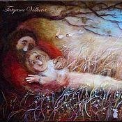 """Картины и панно ручной работы. Ярмарка Мастеров - ручная работа """"Любовь"""" картина из шерсти. Handmade."""