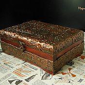 Для дома и интерьера ручной работы. Ярмарка Мастеров - ручная работа Шкатулка в стиле стимпанк, стимпанк шкатулка. Handmade.