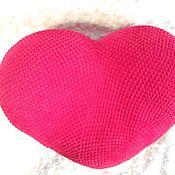 Мягкие игрушки ручной работы. Ярмарка Мастеров - ручная работа Мягкие игрушки: Подушка-сердце. Handmade.