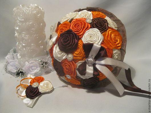 Свадебные цветы ручной работы. Ярмарка Мастеров - ручная работа. Купить Букет  невесты. Для примера. Handmade. Букет невесты