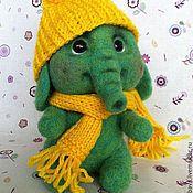 Куклы и игрушки ручной работы. Ярмарка Мастеров - ручная работа Валяный слоненок Листик. Handmade.