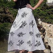 Одежда ручной работы. Ярмарка Мастеров - ручная работа Летняя длинная юбка-полусолнце.. Handmade.