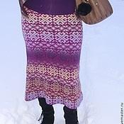 """Одежда ручной работы. Ярмарка Мастеров - ручная работа Юбка """"Лиловая снежинка"""". Handmade."""
