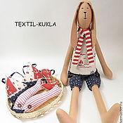 Куклы и игрушки ручной работы. Ярмарка Мастеров - ручная работа Зайчик на море(60см) - игрушка для детей и взрослых. Handmade.