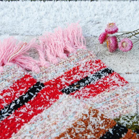 """Текстиль, ковры ручной работы. Ярмарка Мастеров - ручная работа. Купить Бабушкин коврик """"Клюква в сахаре"""". Handmade. Ярко-красный"""