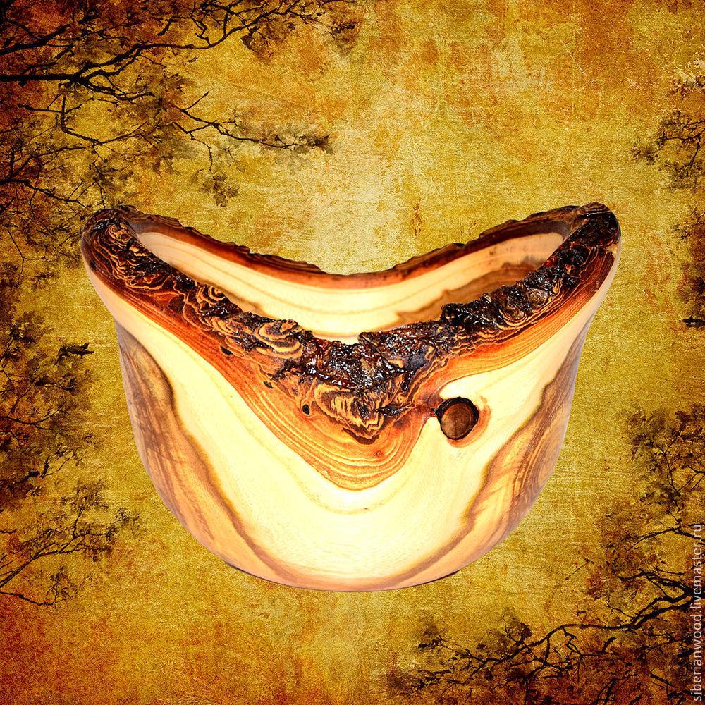 Unique Bowl Candy dish Vase from natural wood Elm #V5, Candy Dishes, Novokuznetsk, Фото №1