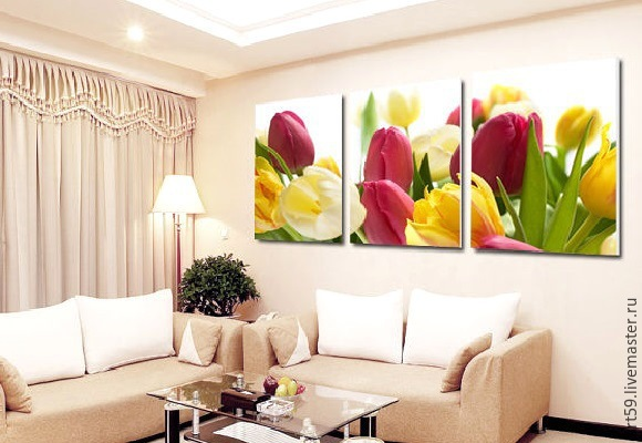 triptych ' Tulips', Pictures, St. Petersburg,  Фото №1