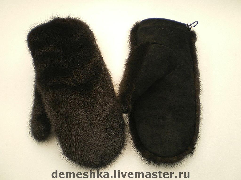 Сшить рукавицы из норковой шапки 97