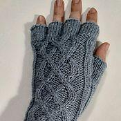 Аксессуары handmade. Livemaster - original item Eleanor mitts, knitted. Handmade.