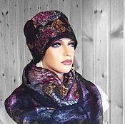 Аксессуары handmade. Livemaster - original item Scarf and hat Karmen. Handmade.