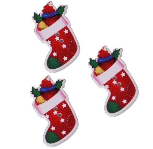 Шитье ручной работы. Ярмарка Мастеров - ручная работа. Купить Пуговицы деревянные новогодний сапожок. Handmade. Пуговица, пуговицы