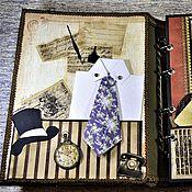 Канцелярские товары handmade. Livemaster - original item Photo album for men-Welcome to my life. Handmade.