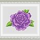 """Вышивка ручной работы. Ярмарка Мастеров - ручная работа. Купить Схема для вышивки крестиком """"Фиолетовая роза"""". Handmade."""
