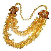 Украшения handmade. Livemaster - original item Necklace amber beads Grapes of amber beads amber natural stone. Handmade.
