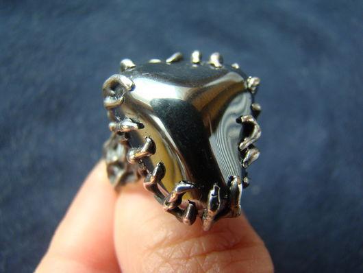 Кольца ручной работы. Ярмарка Мастеров - ручная работа. Купить Кольцо с гематитом. Handmade. Серебряный, серебро