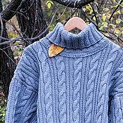 Одежда ручной работы. Ярмарка Мастеров - ручная работа Свитер с аранами #1. Handmade.