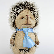Куклы и игрушки ручной работы. Ярмарка Мастеров - ручная работа Ежонок дошколёнок тедди. Handmade.