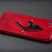 Сумки и аксессуары handmade. Livemaster - original item Leather smartphone case, cover plate. Handmade.