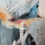 """Картины и панно ручной работы. Ярмарка Мастеров - ручная работа """"Женщины с кораблями на головах! лист 3. Handmade."""
