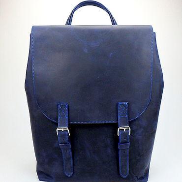 Сумки и аксессуары ручной работы. Ярмарка Мастеров - ручная работа Кожаный рюкзак большой, городской рюкзак, мужской рюкзак Wild backpack. Handmade.