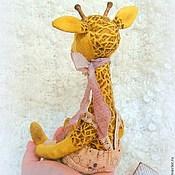 Куклы и игрушки ручной работы. Ярмарка Мастеров - ручная работа Пьер:) жираф тедди. Handmade.