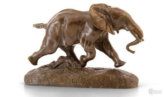 Статуэтки ручной работы. Ярмарка Мастеров - ручная работа. Купить Скульптура «Бегущий слон». Handmade. Бронза, Литье, статуэтка, слон