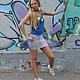 Юбки ручной работы. Комбинированная юбка из трикотажа на заказ. HК-бренд. Ярмарка Мастеров. Комбинированная юбка, для девушки, мода