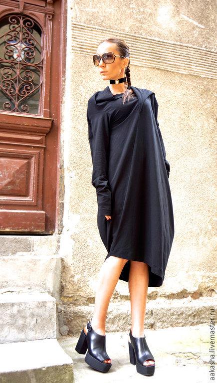 Длинное платье свободное платье уникальный стиль